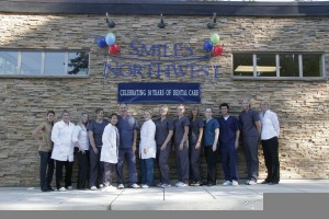 The doctors and team at Smiles Northwest in Beaverton celebrating 30 years of dental care!