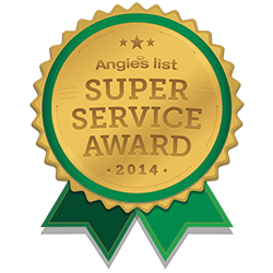 The Super Service Award from Angie's List, given to Smiles Northwest in 2014