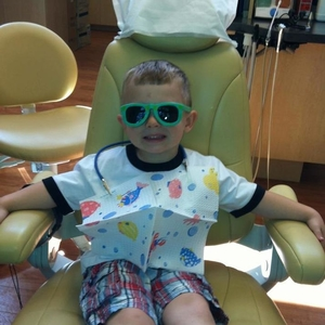 A young patient at our Beaverton family dentistry expert's office.