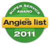 Super Service Award Angies List 2011 Badge