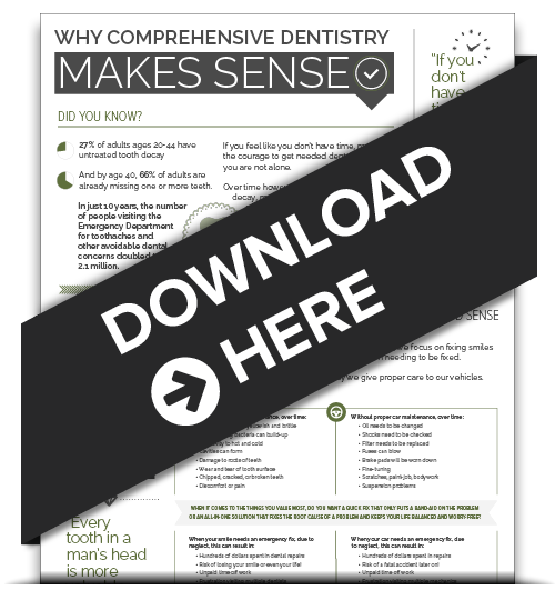 Download Smiles Northwest's Infographic: Why Comprehensive Dentistry Makes Sense