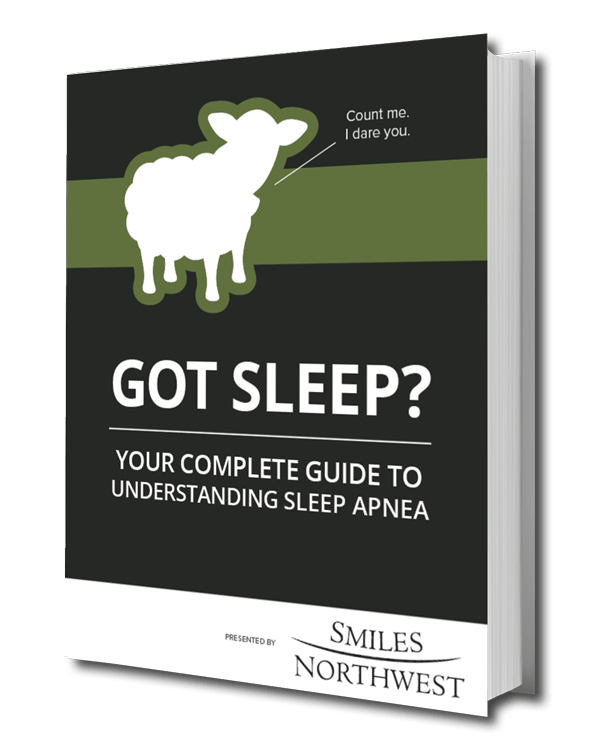Preview of our Portland Dentist's free eBook titled Got Sleep? Your Complete Guide to Understanding Sleep Apnea.
