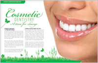 The cover of our article titled Cosmetic Dentistry - A Time for Change