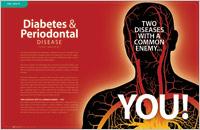 The cover of our article titled Diabetes & Periodontal Disease