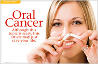 The cover of our article titled Oral Cancer