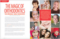 The cover of our article titled The Magic of Orthodontics