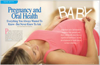 The cover of our article titled Pregnancy & Oral Health