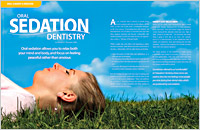 The cover of our article titled Oral Sedation Dentistry